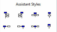 Available assistant styles toolbar
