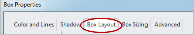 Box Layout Tab