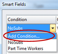 Add Condition dropdown